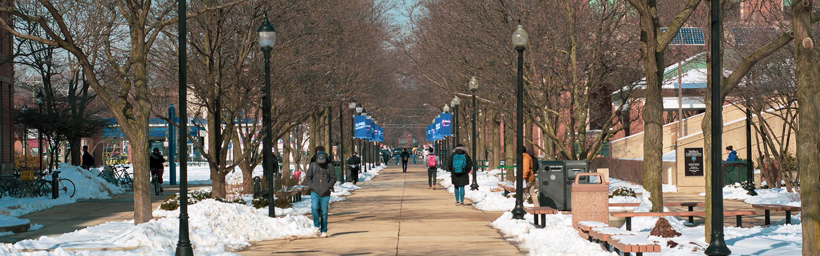 DePaul Lincoln Park Campus During Winter