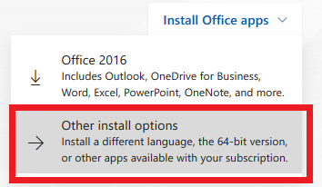 Office 365 ProPlus Advanced Install Option