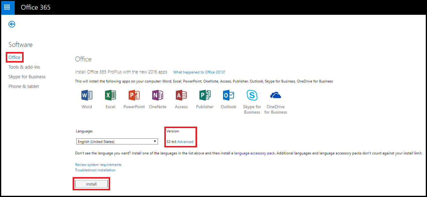 Office 365 ProPlus Install