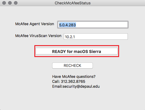 McAfee Agent Check