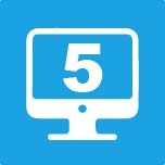 Five devices icon