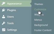 DePaul Blogs customization menu