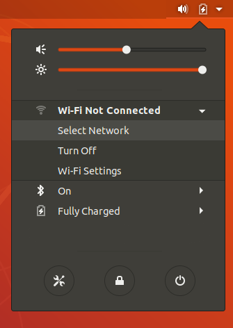 wifi not connected menu