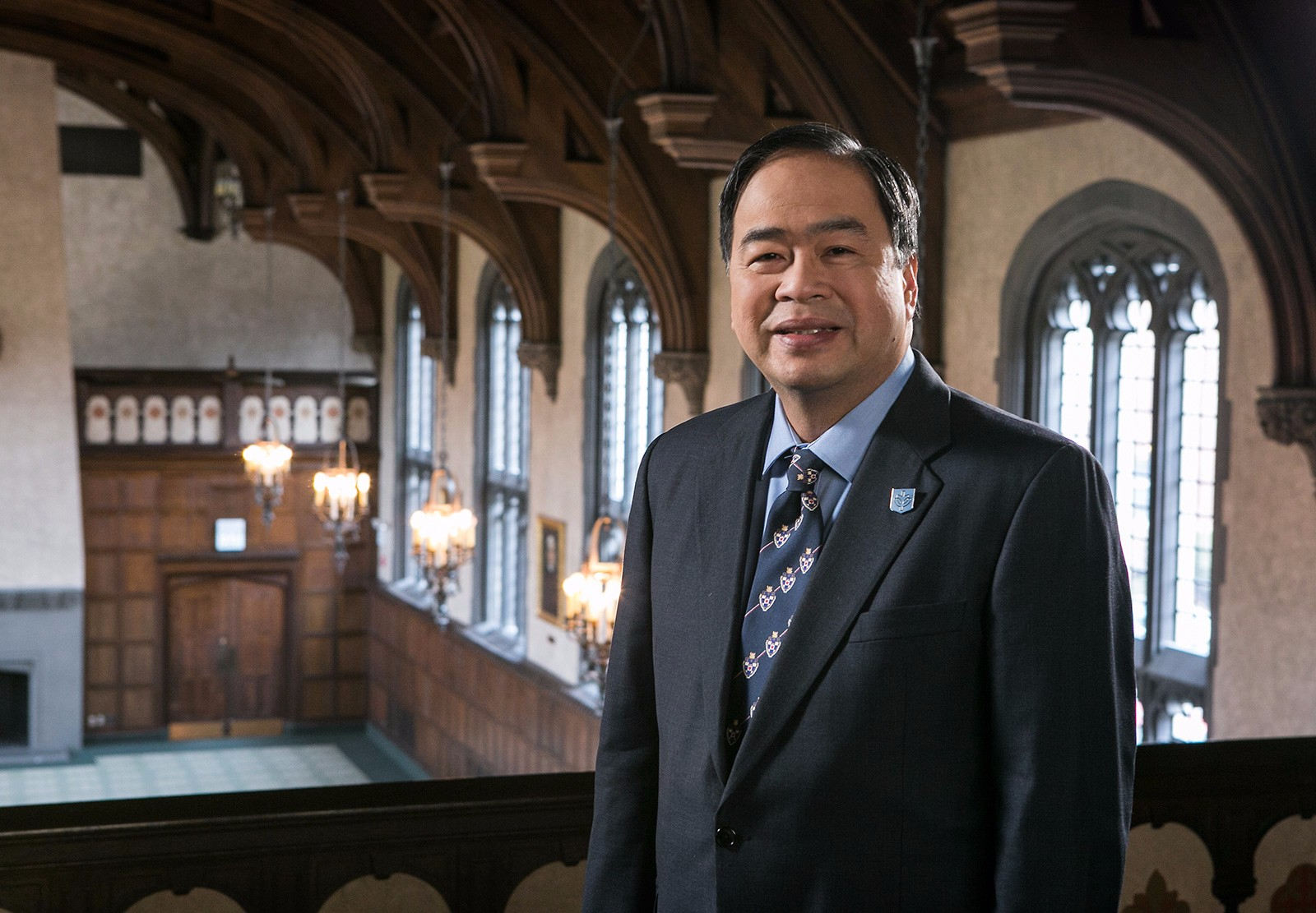 Dr. A. Gabriel Esteban is DePaul's first lay leader. (DePaul University/Jamie Moncrief)