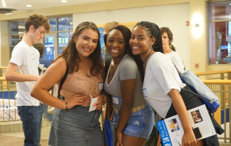 Group of students at freshman orientation.